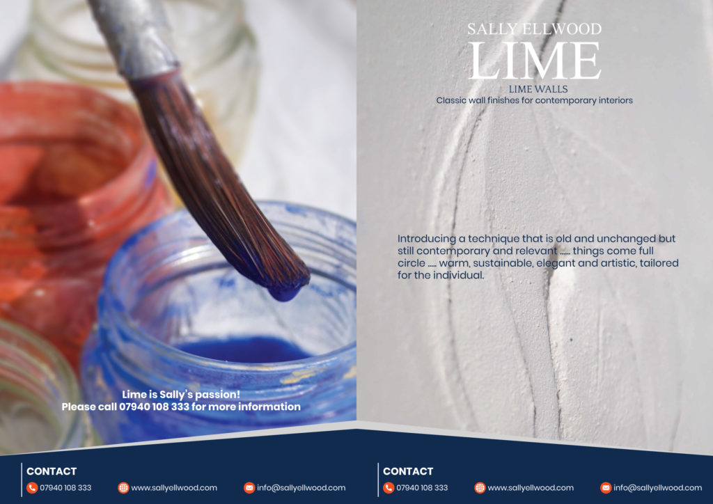 LIme walls sales brochure design